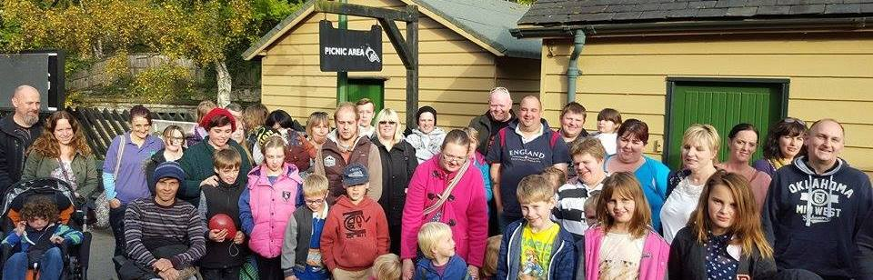 A group with Ryedale Special Families at Goathland Station