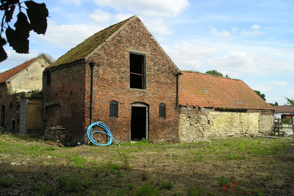 An original barn in readiness for conversion